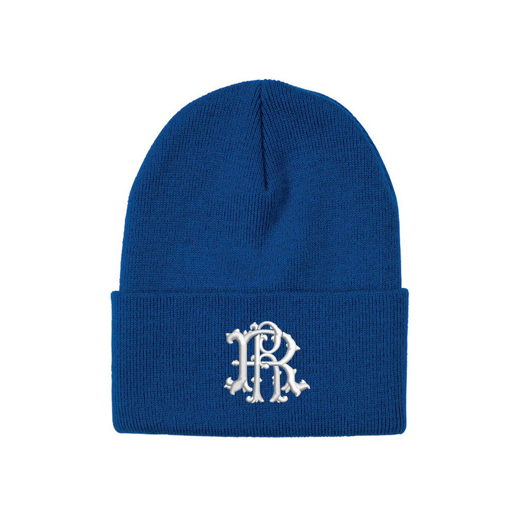 Ride Rich Filigree Knit Beanie {Blue}