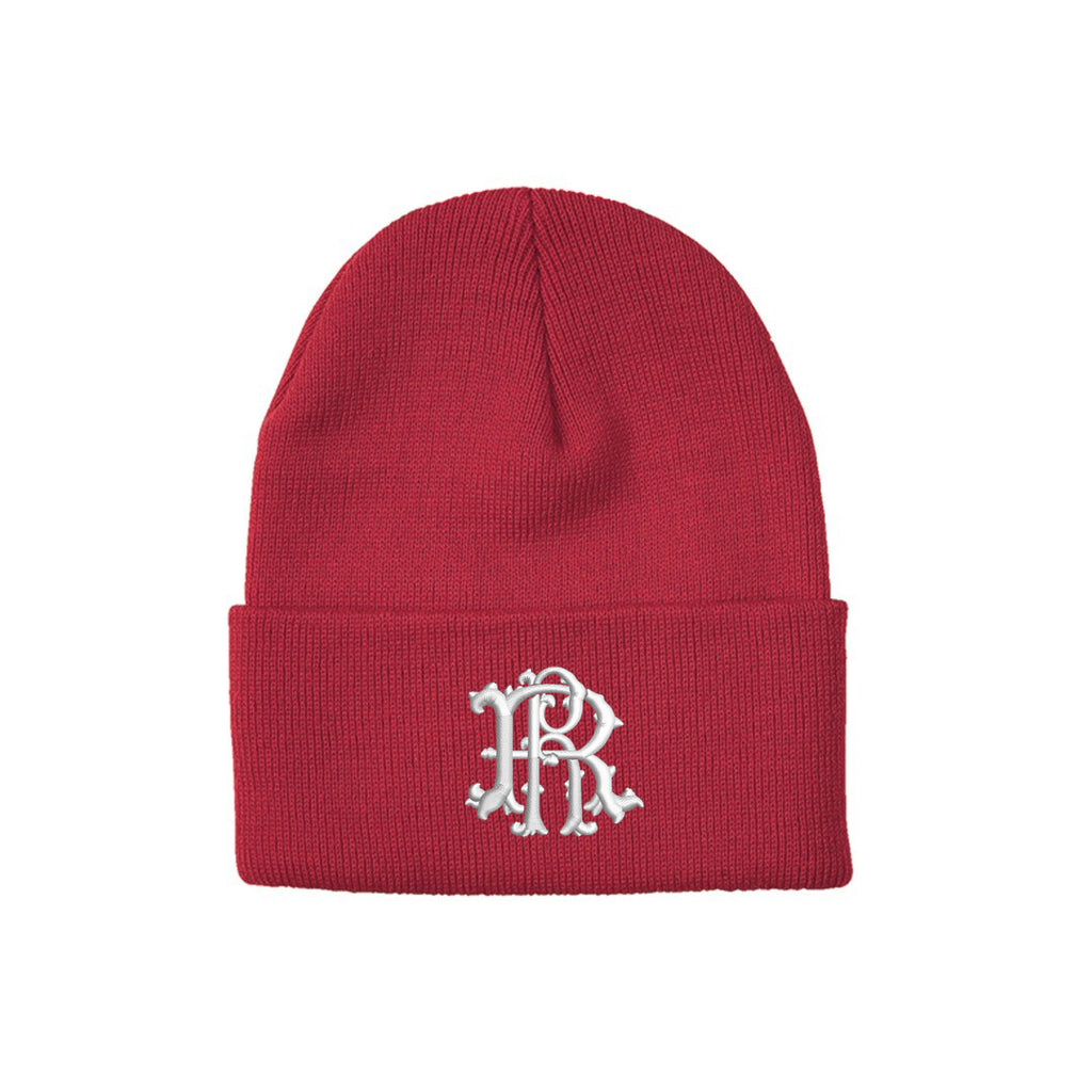 Ride Rich Filigree Knit Beanie {Red}