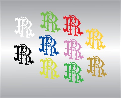 RR Filigree Motif Vinyl Decal