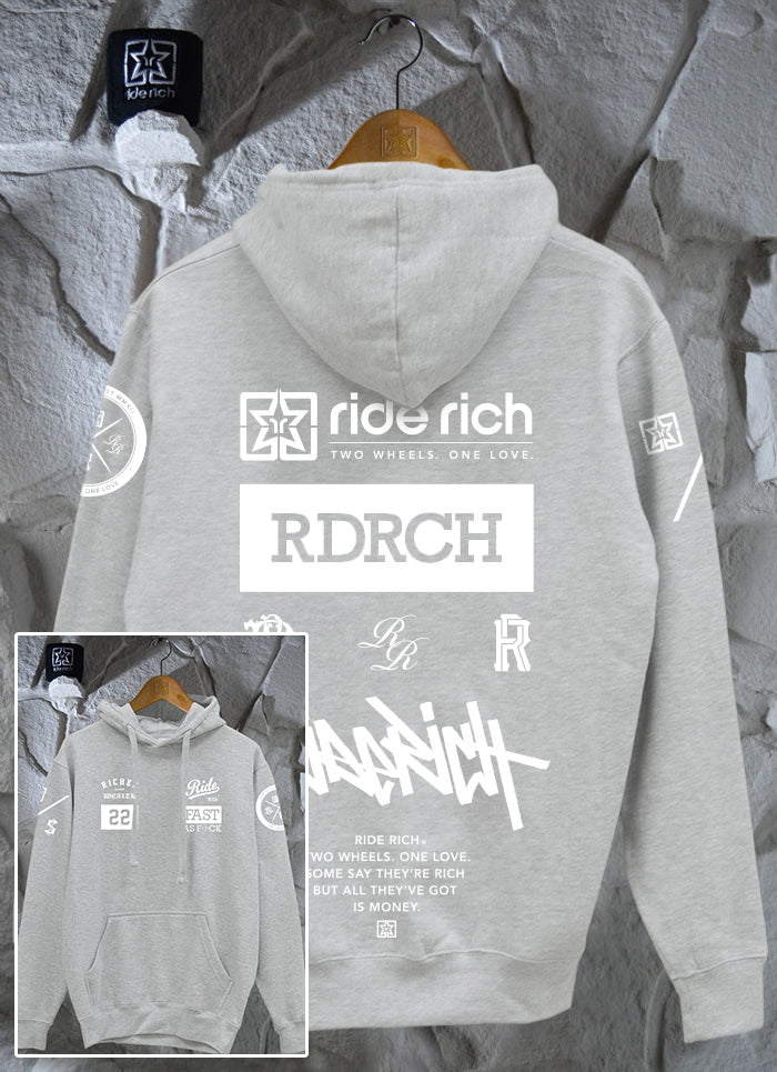 RR GP Pullover Hoodie {Heather Grey}