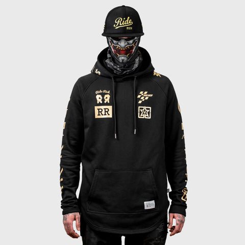 Branded V2 Scoop Pullover Hoodie {Gold on Black}