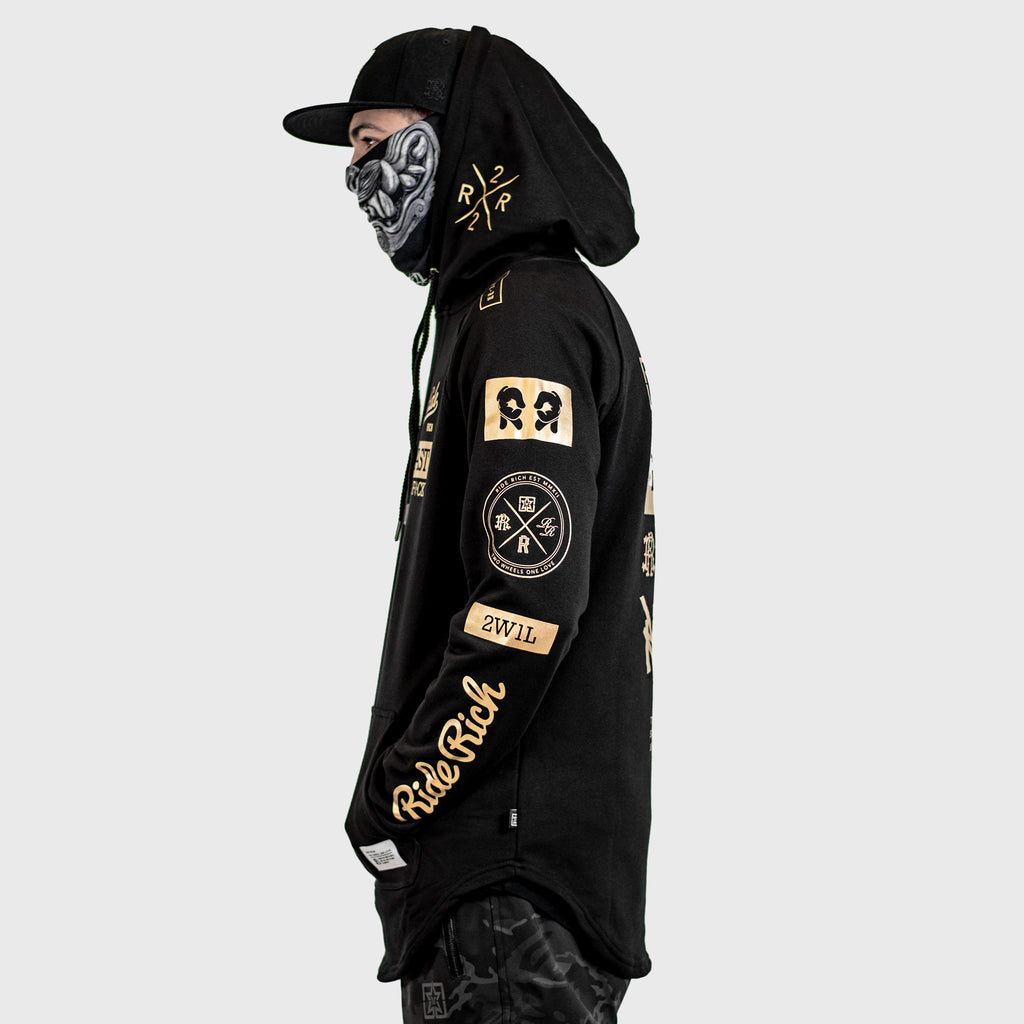 RR GP Scoop Pullover Hoodie {Gold on Black}