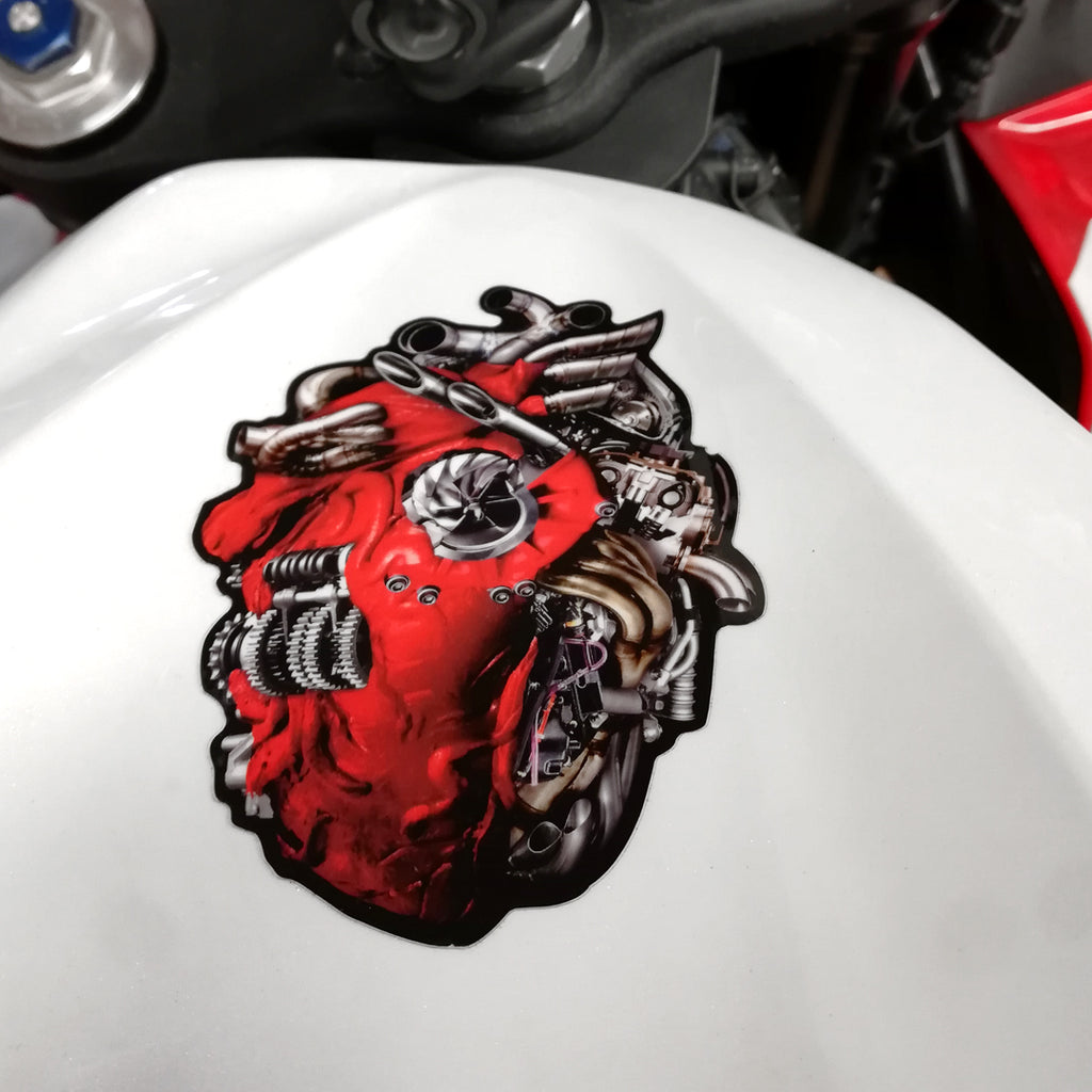 Heart of a Rider Vinyl Sticker