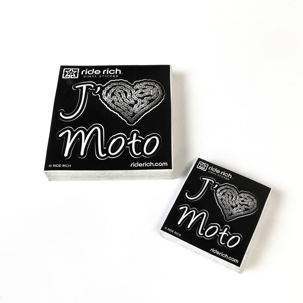 J'adore La Moto Vinyl Sticker {Medium}