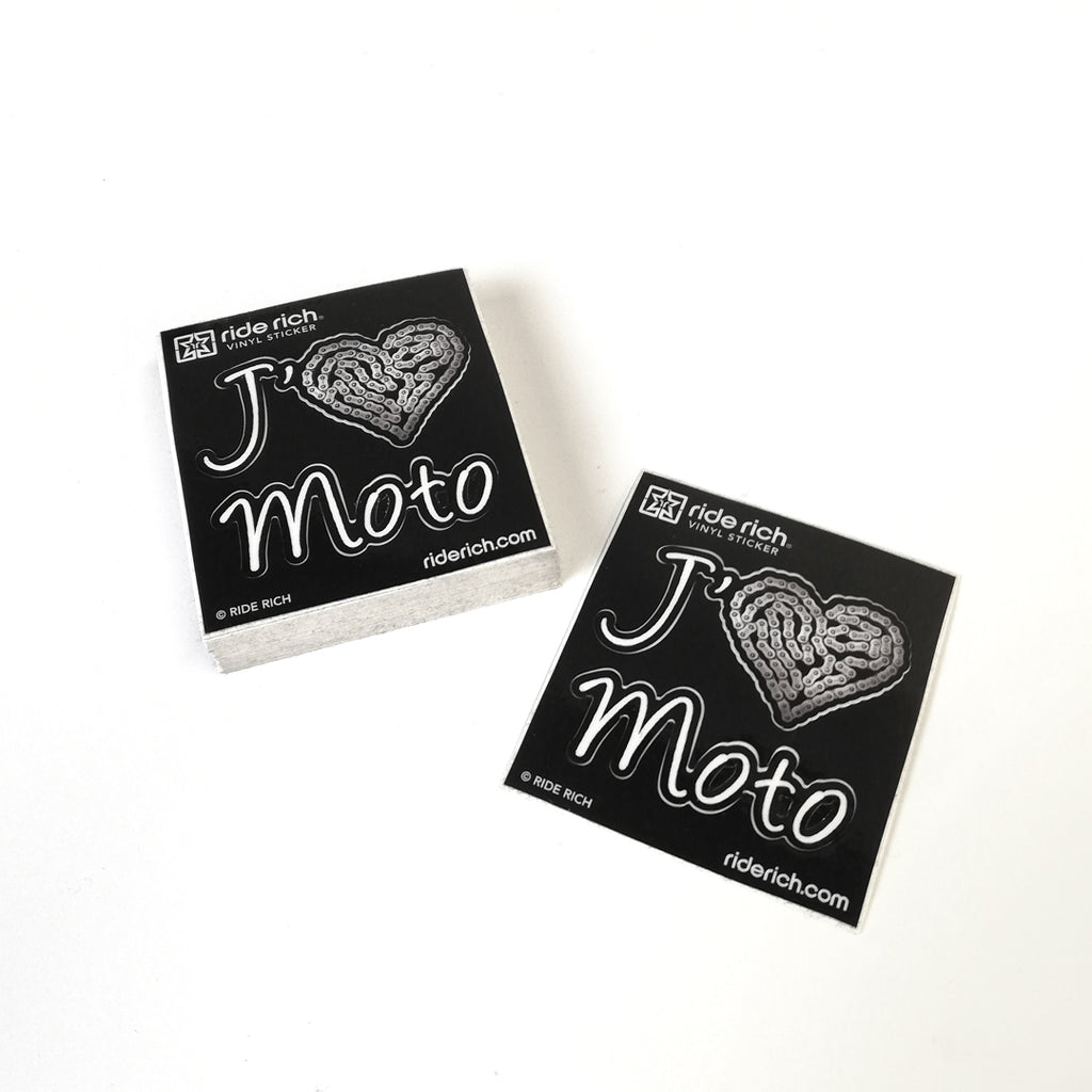 J'adore La Moto Vinyl Sticker {Small}