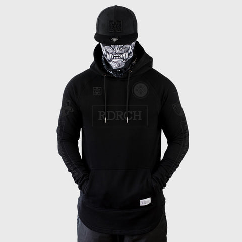 Mad Official Scoop Pullover Hoodie {Black on Black}