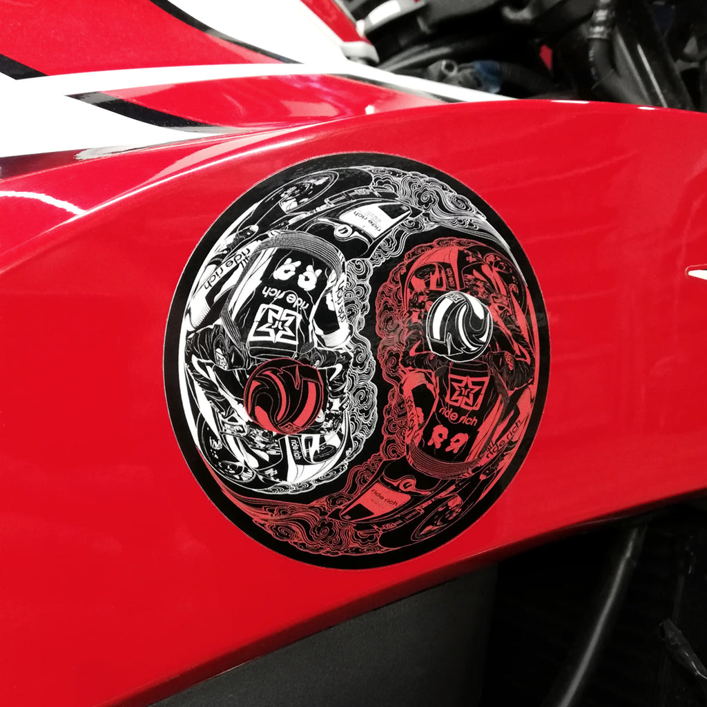 Master of Self Vinyl Sticker {Red}