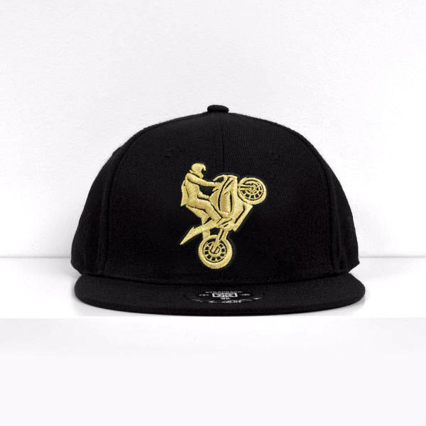 I Love Ridin Snapback {Gold on Black}