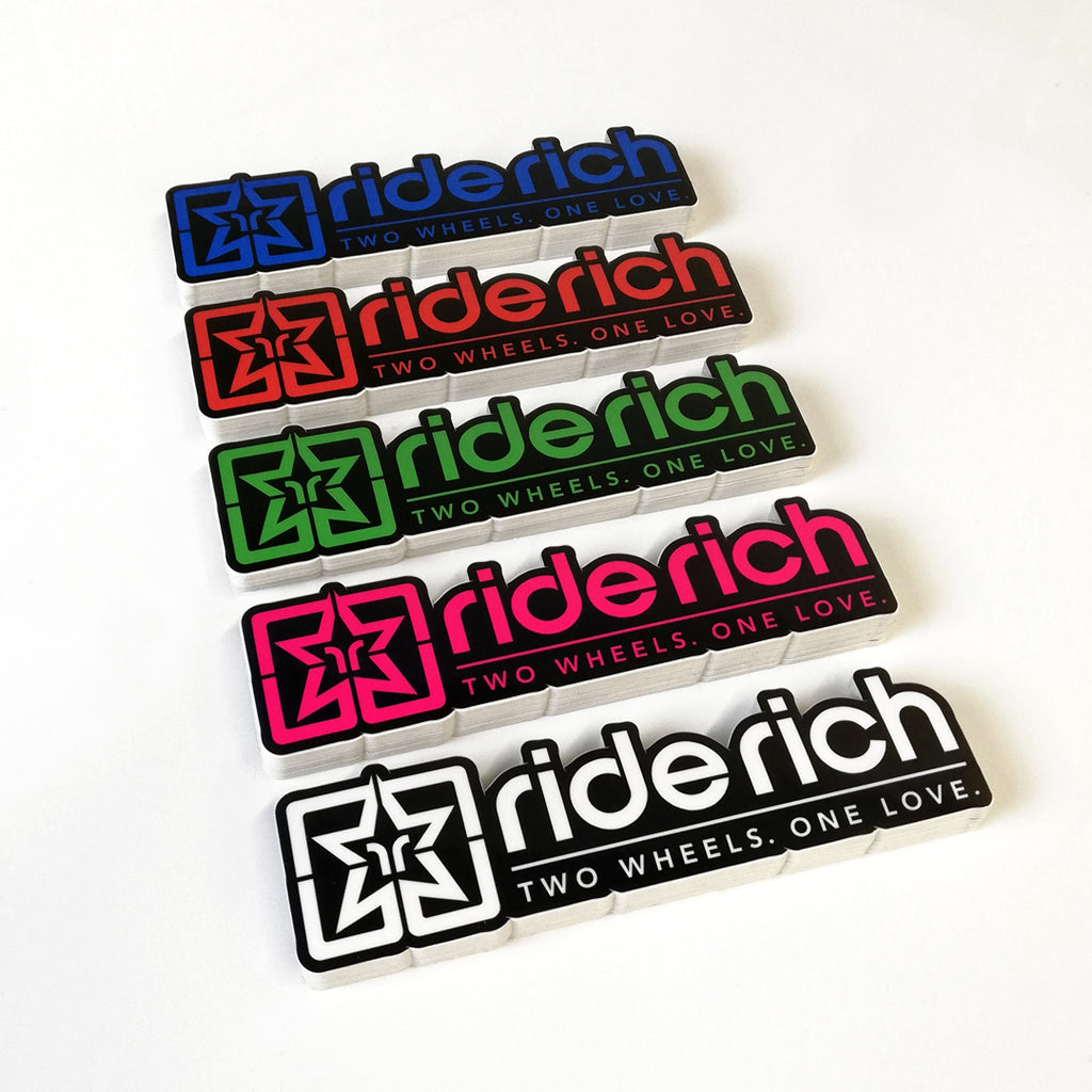 Ride Rich Vinyl Sticker {Black Outline}