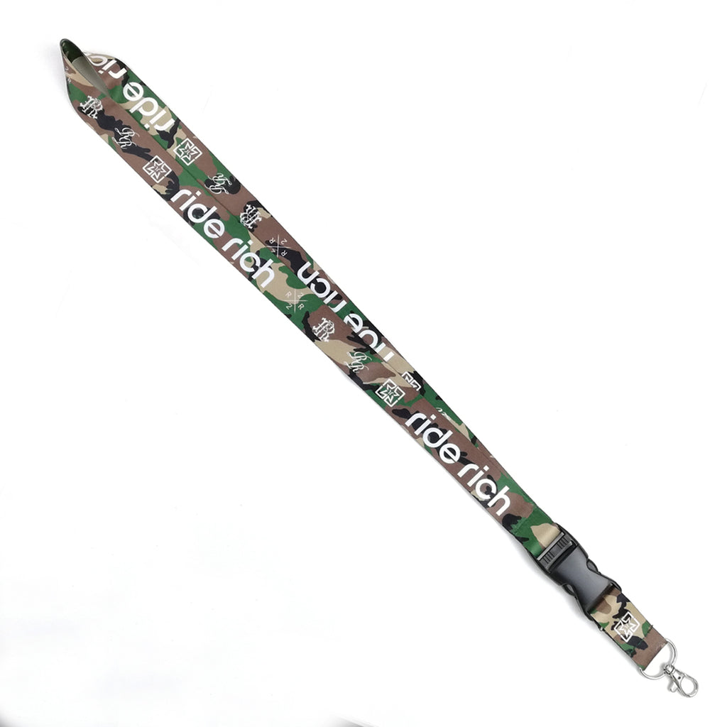 Ride Rich Lanyard {Camo} 2