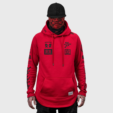 Branded V2 Scoop Pullover Hoodie {Red}