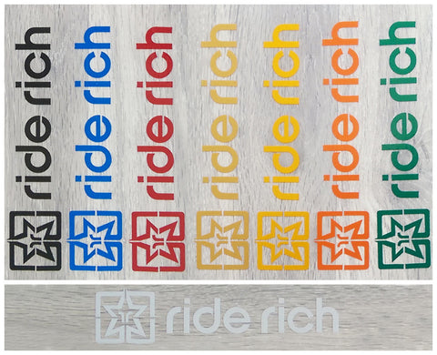 Ride Rich Reflective Vinyl View 1 - Custom Motorcycle Decals