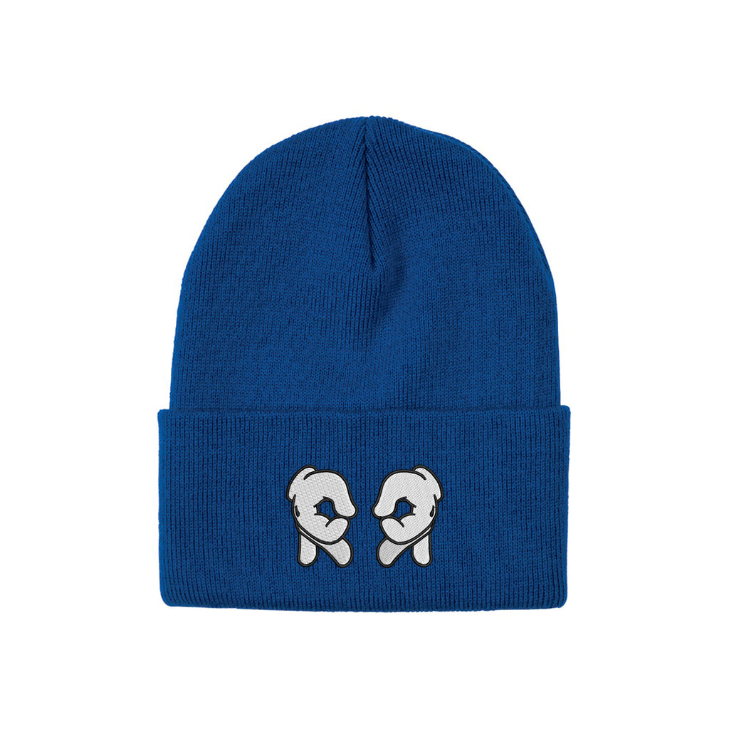 Rep Life On Two Knit Beanie {Blue}
