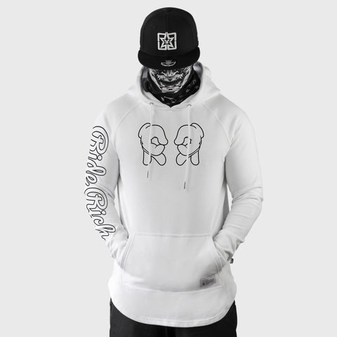 Rep Life On Two {Outline} Scoop Pullover Hoodie {White}