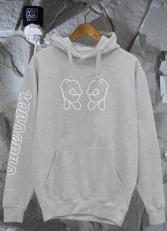 Rep Life On Two {Outline} Pullover Hoodie {Heather Grey}