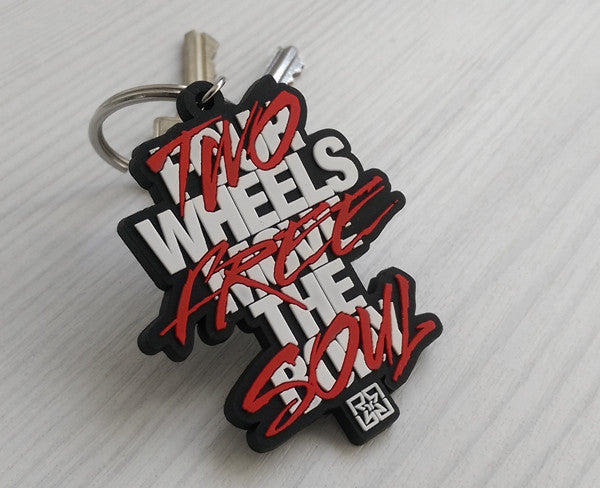 Ride Rich Ride Free Keychain View 4 - Motorcycle Accessories