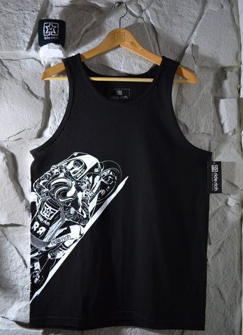Gear Up & Ride Rich Tank {Black} View 1 - Motorcycle Tank Top