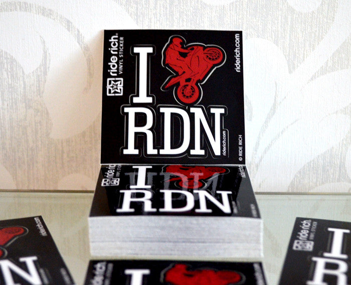 I Love RDN Vinyl Sticker {Small} - Motorcycle Decals