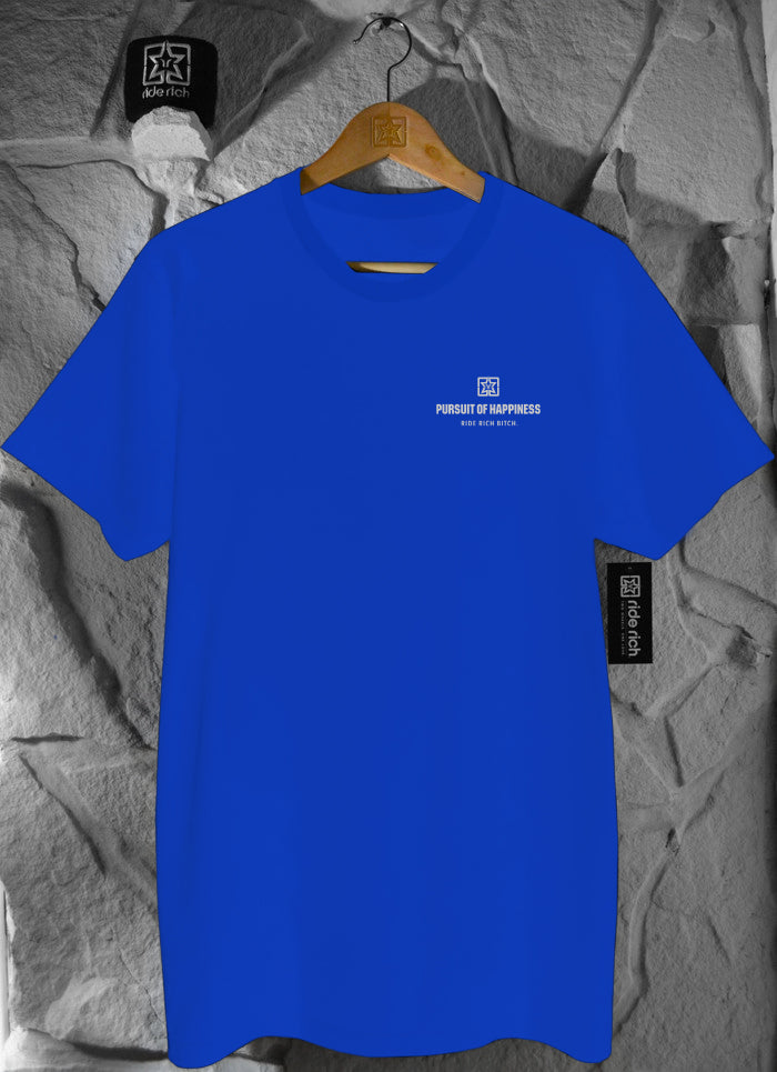 Pursuit of Happiness Tee {3M Reflective Ink/Blue}