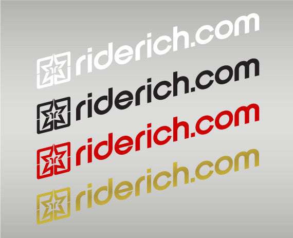 Ride Rich Dot Com Vinyl Decal View 1 - Custom Motorcycle Decal