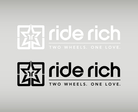 Ride Rich 2W1L Vinyl {Medium} - Custom Motorcycle Decal