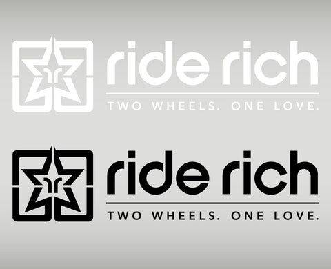 Ride Rich 2W1L Vinyl {Large} View 1 - Custom Motorcycle Decal