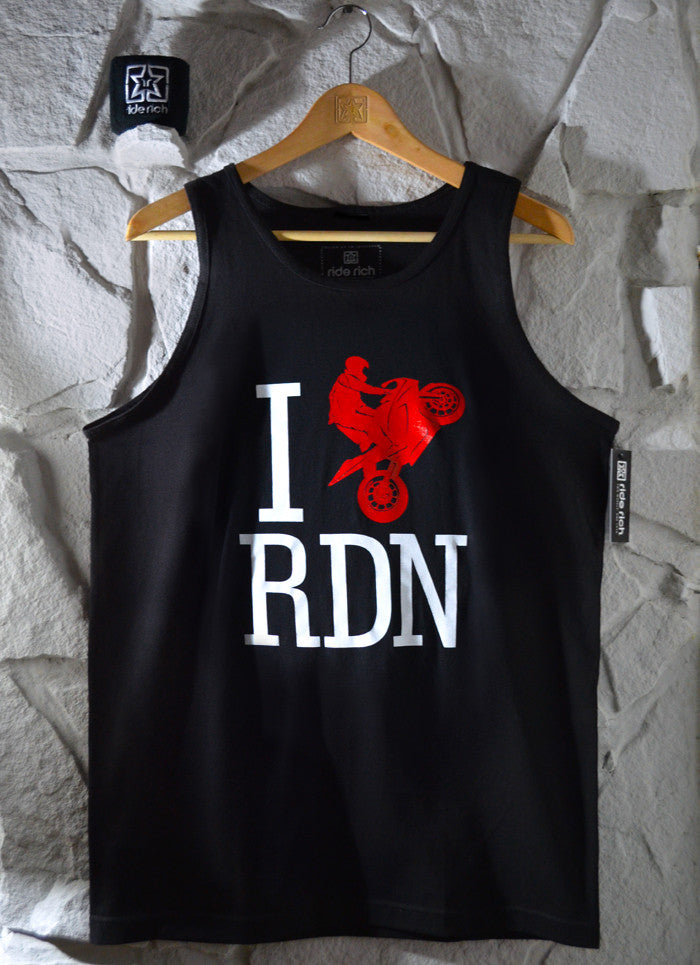 I Love RDN Tank View 1 - Motorcycle Tank Top