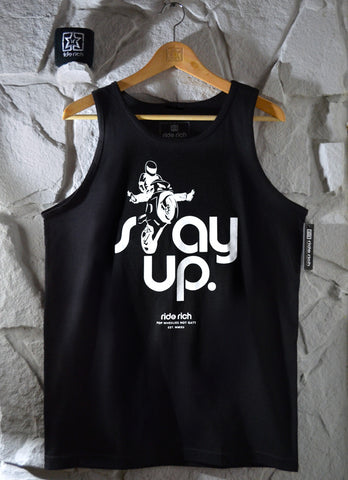 Stay Up Like Wheelies Tank View 1 - Motorcycle Tank Top