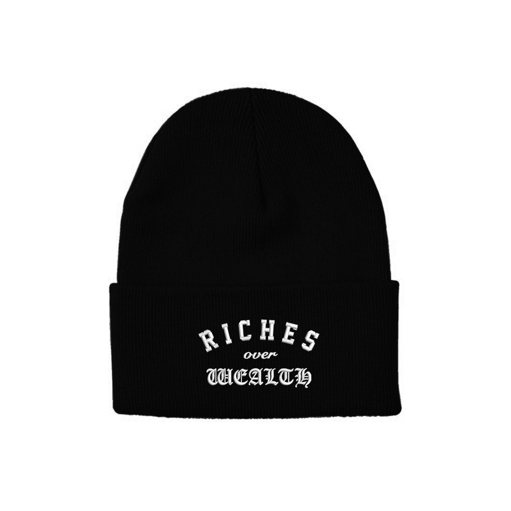 Riches Over Wealth Knit Beanie {Black}