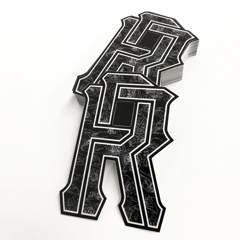 R's on Lock Vinyl Sticker {1000}