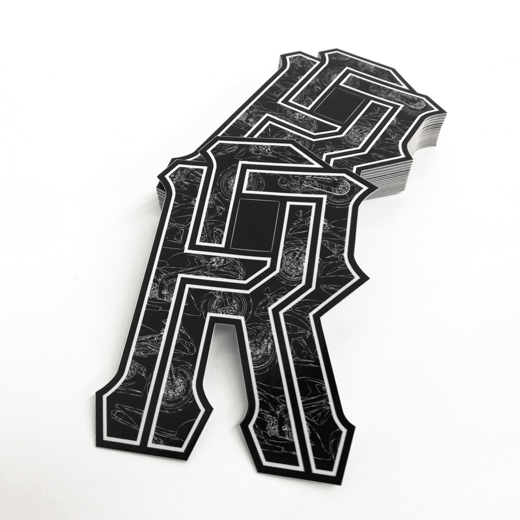 R's on Lock Vinyl Sticker {600}
