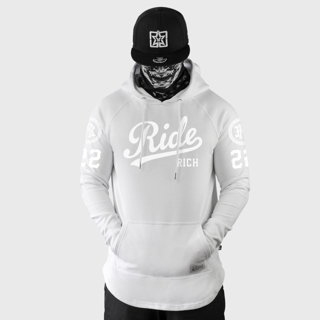 RR Squad Scoop Pullover Hoodie {White on White}