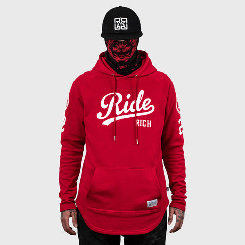 RR Squad Scoop Pullover Hoodie {Red}