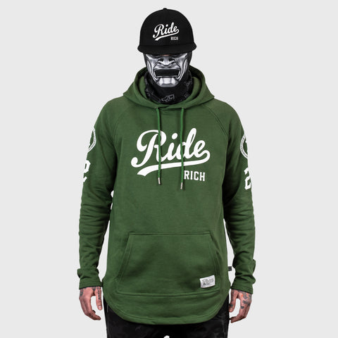 RR Squad Scoop Pullover Hoodie {Military Green}
