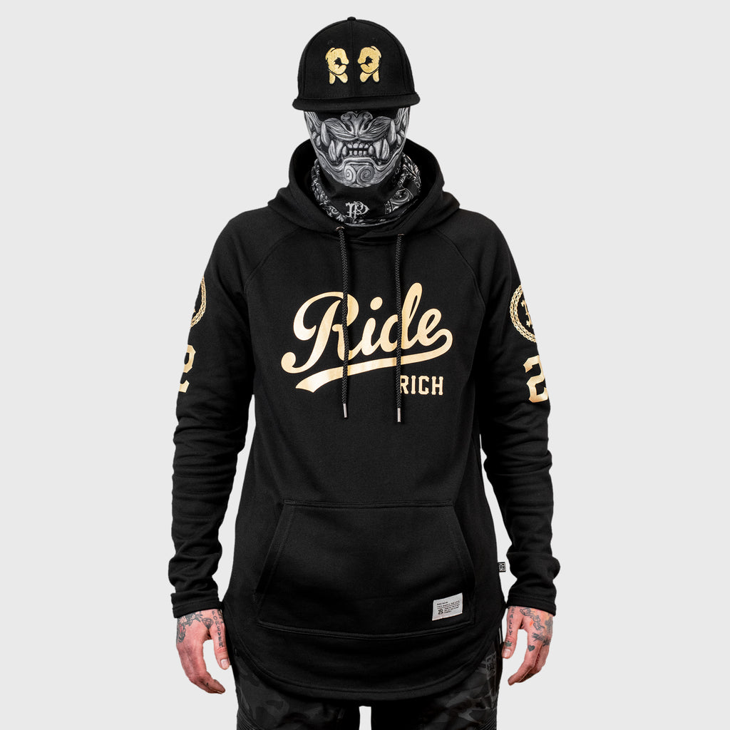 RR Squad Scoop Pullover Hoodie {Gold on Black}