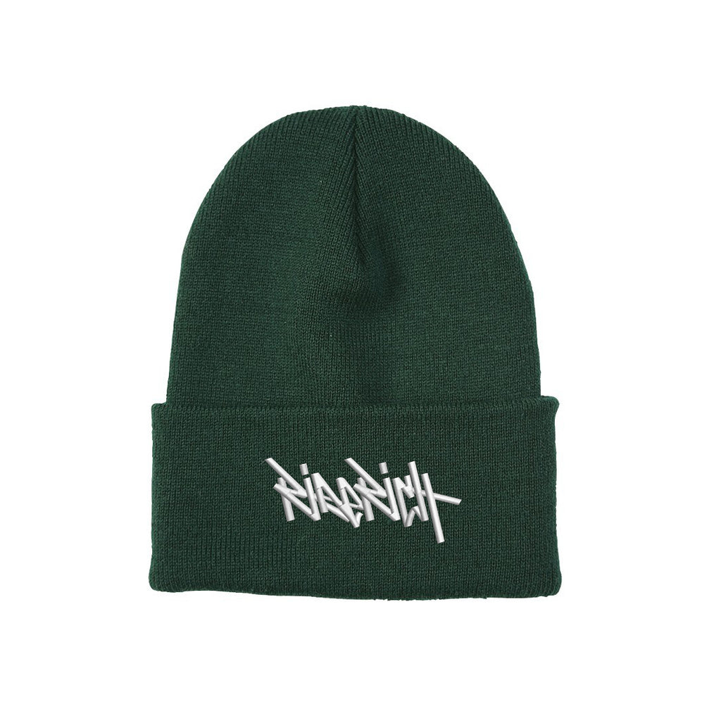 Ride Rich Tag Knit Beanie {Green}