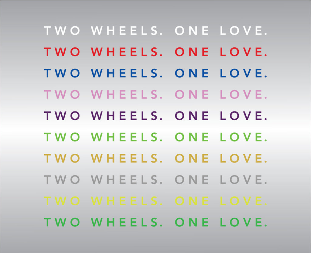 Two Wheels. One Love. Vinyl Decal