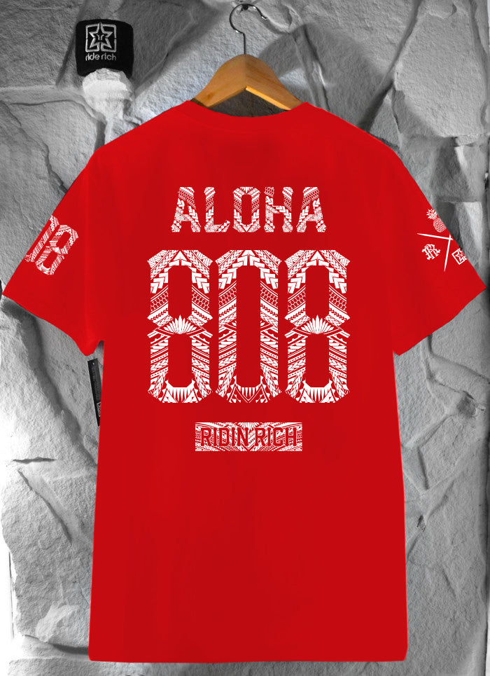 Home Grown 808 Edition Tee {Red}