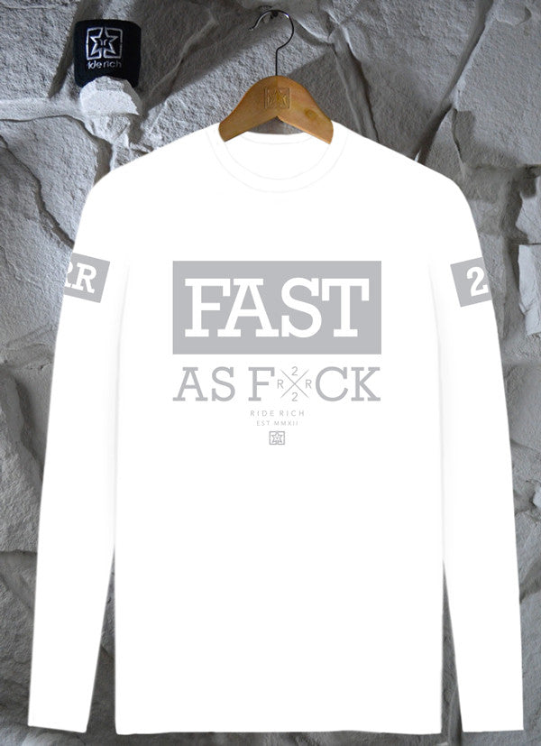 Been Fast White L/S Tee {3M Reflective Ink}