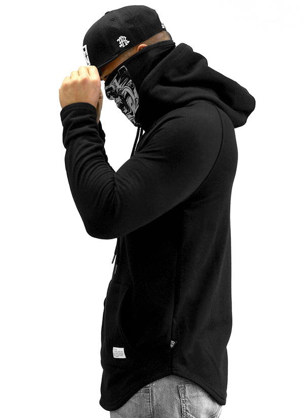 Ride Rich Tag {Paisley} Patched Scoop Pullover Hoodie