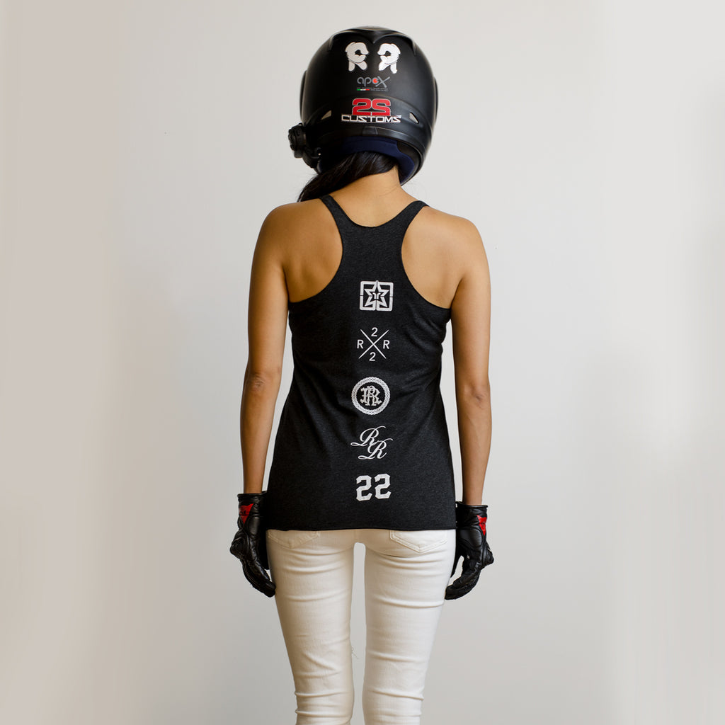 RR Filigree & Chains Triblend Racerback Tank {Black Heather}
