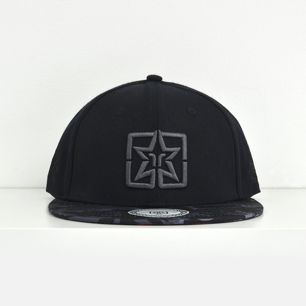 Emblem Rose Camo Strapback View 2 - Motorcycle Hat