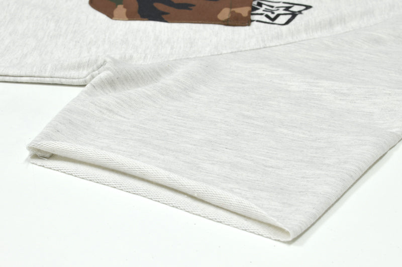 Camo Pocket Scoop Tee {White Heather} 6
