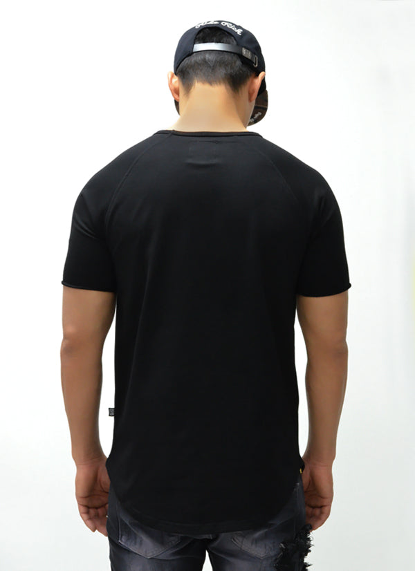 Blank Scoop Tee {Black} 4