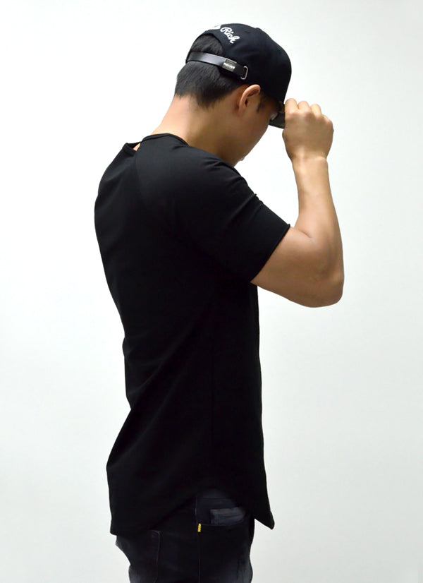 Blank Scoop Tee {Black} 3