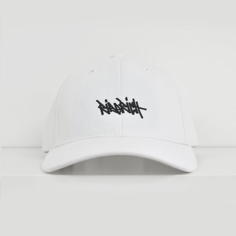 Ride Rich Tag White Dad Hat View 1 - Motorcycle Hat