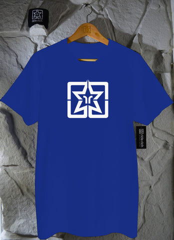 RR Emblem Royal Blue Tee View 1 - Motorcycle T-shirt
