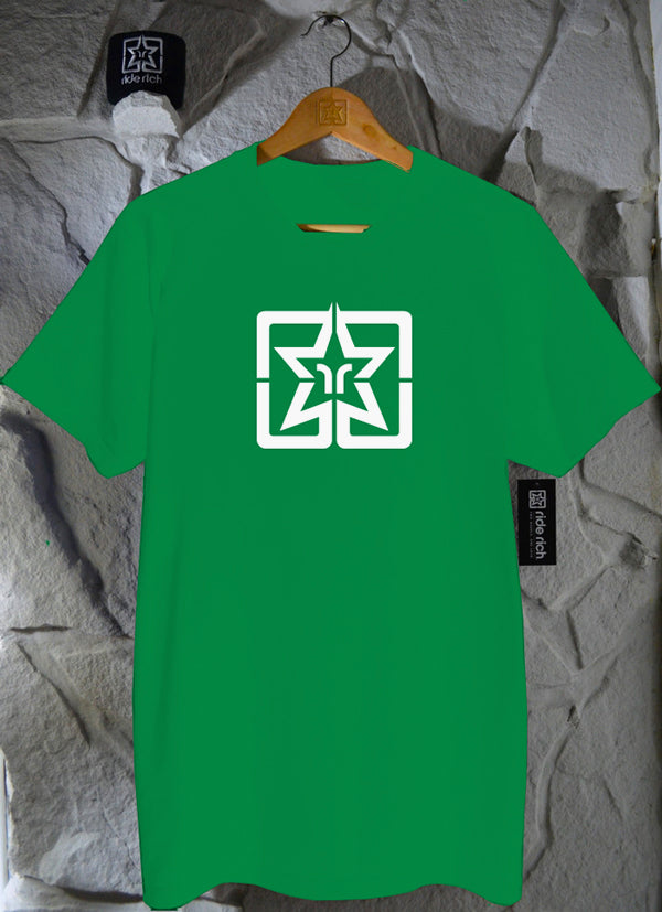 RR Emblem Green Tee View 1 - Motorcycle T-shirt
