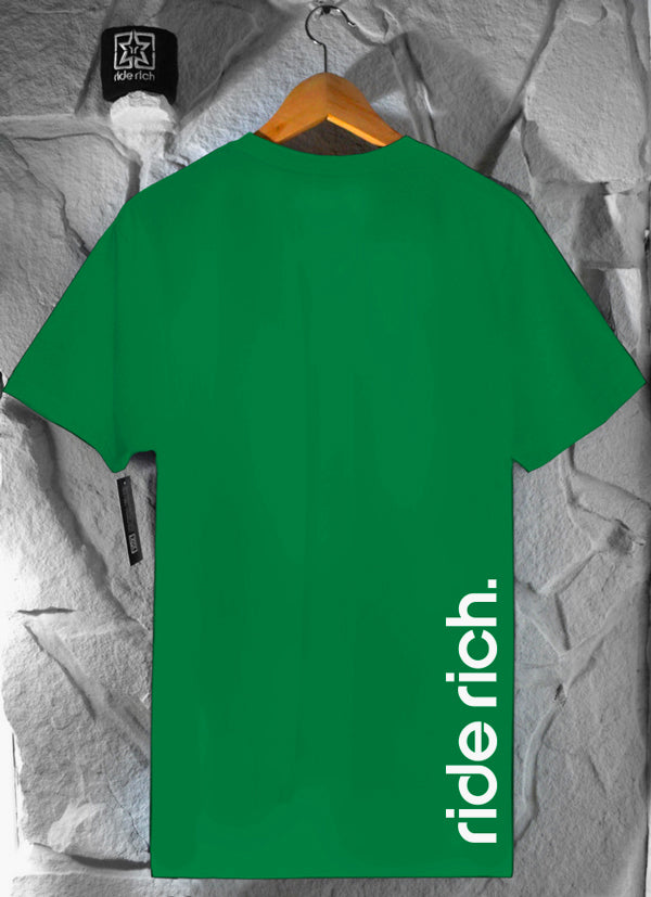 RR Emblem Green Tee View 2 - Motorcycle T-shirt