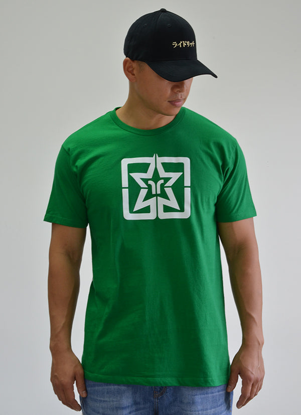 RR Emblem Green Tee View 3 - Motorcycle T-shirt